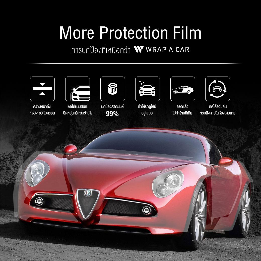 ติดฟิล์มใสปกป้องสีและตัวถังที่ WRAP A CAR