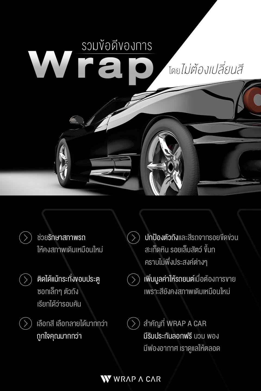 รวมข้อดีของการ Wrap สีรถที่ WRAP A CAR