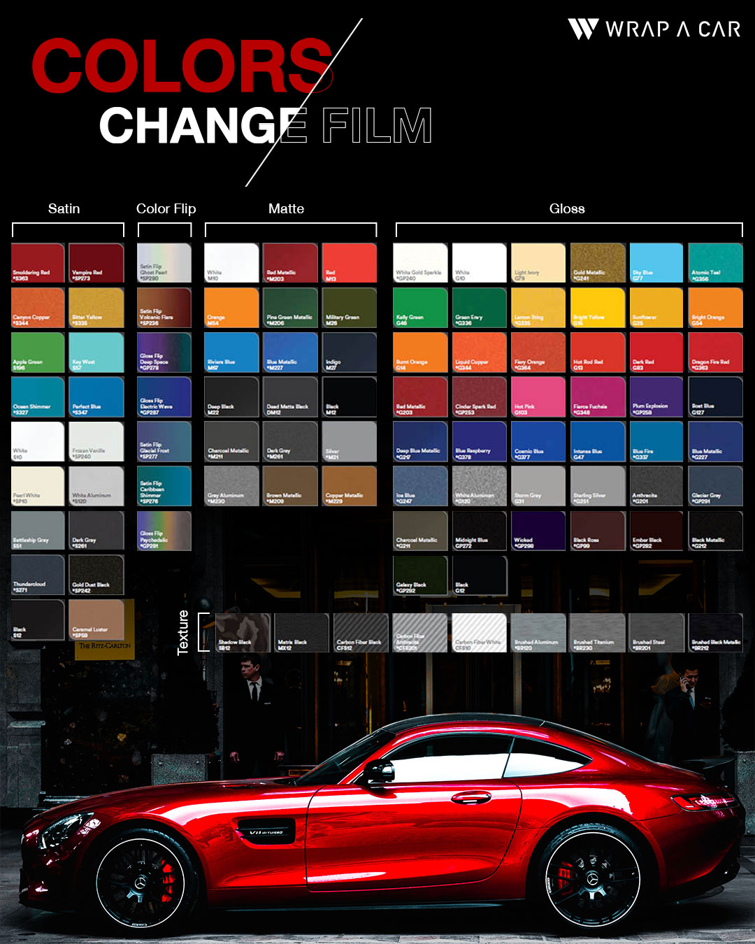 เปลี่ยนสีรถด้วยการแรป ตัวเลือกสีที่มากกว่าที่ WRAP A CAR